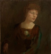 Portrait of Mrs Alexander Morten by Kahlil Gibran