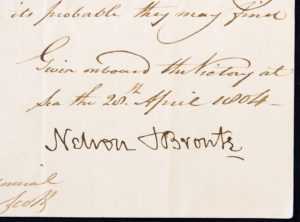 Nelson's signature