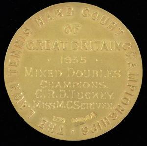 Wimbledon winners medal from 1935