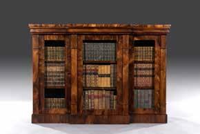 A late Regency George IV three door rosewood cabinet