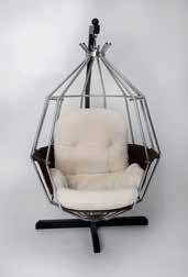 "An original Boris Tabacoff designed ""Sphere"" chair"