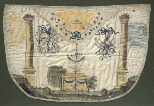 A small selection of French P.O.W artefacts is available in the sale, including a rare Napoleonic masonic apron, is valued at between £800 and £1,200