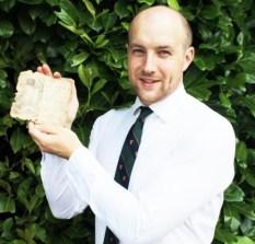 An auctioneer with a rare Civil War book