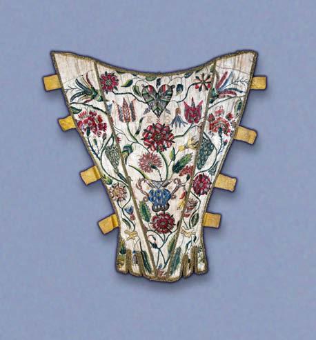 Boned stomacher, English, early 18th century