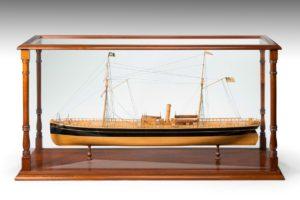 A fine shipyard model of an early sailing steam screw ship