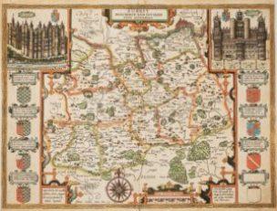 Speed's map of Surrey