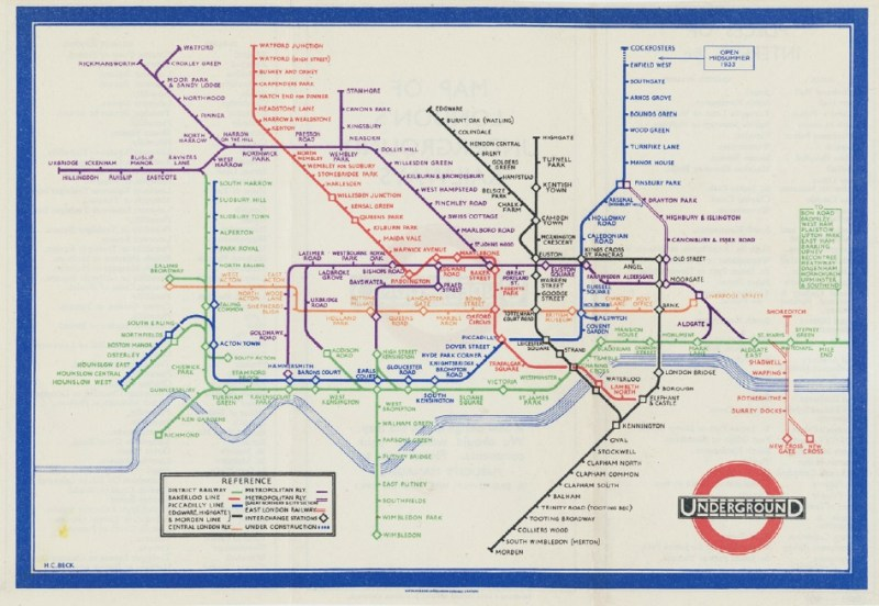 Collecting antique maps such as this London Underground, by Henry C. Beck