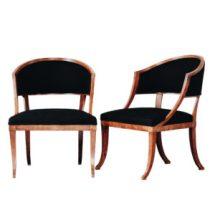 Swedish barrel back chairs