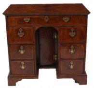 a circa 1900 mahogany twin pedestal partners desk