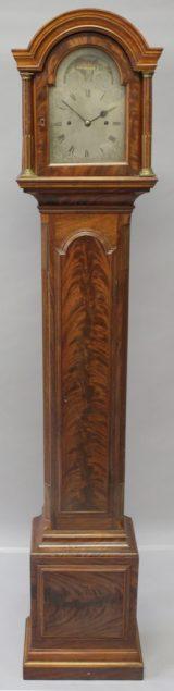 mahogany-cased grandmother clock