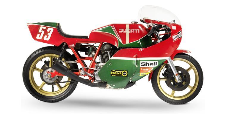The ex-works, NCR, Sports Motor Cycles, Roger Nicholls, Isle of Man TT Formula 1, 1977 Ducati 905cc Production Racing Motorcycle (estimate £55,000-75,000).