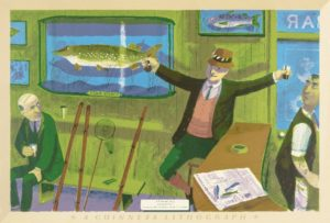 Bernard Cheese, A Fisherman's Story, 1956, colour lithograph, © Chloe, Joanna and Sarah Cheese
