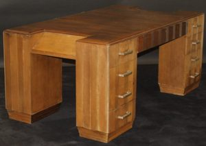 French walnut desk by Dominique of Paris for the Bibury Court Hotel