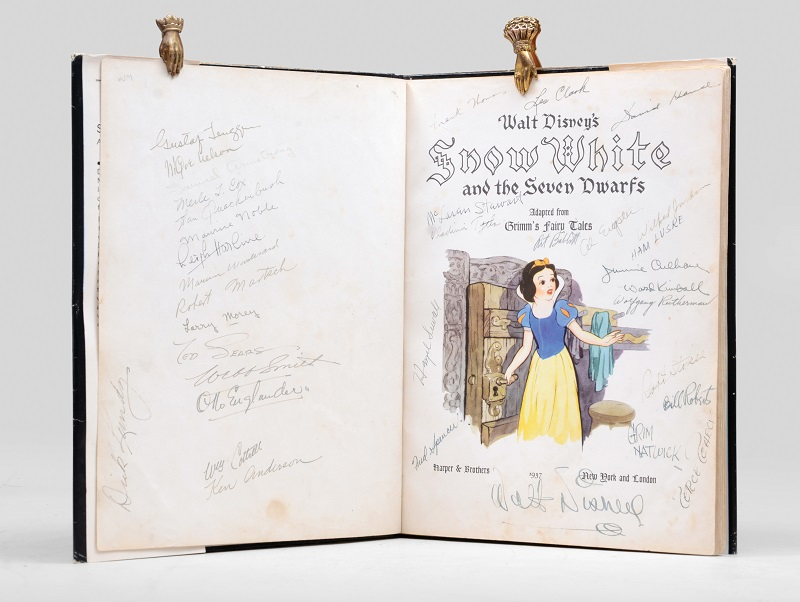 Snow White and the Seven Dwarfs signed by Walt Disney
