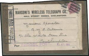 Marconi parcel label
