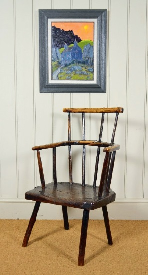 Wax antique furniture, such as this oak chair, and it protects and enhances the wood