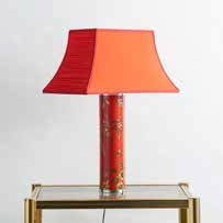 A metal table lamp,