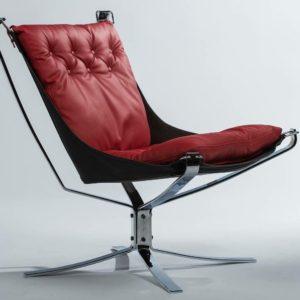 Pillar red falcon chair