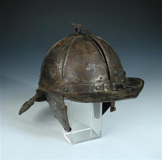 English Civil War Cromwellian lobster tail helmet