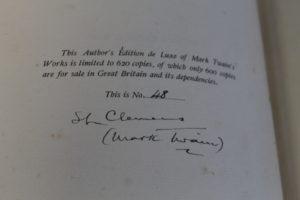 Detail of author's signature