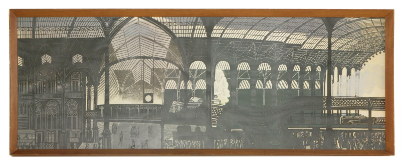 Edward Bawden's linocut of Liverpool Street Station