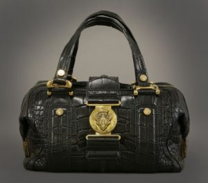A Gucci crocodile 'Aviatrix Boston' bag