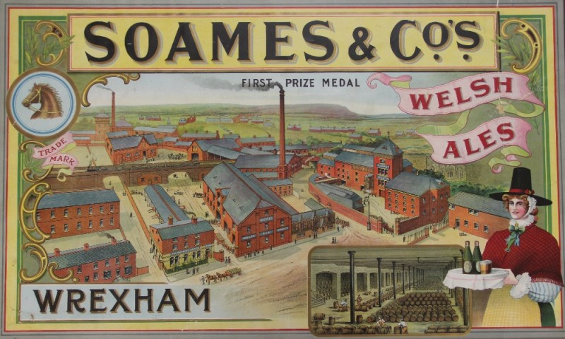A Soames & Co, Border Breweries, advertising poster sold for £1,100