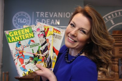 Catherine Trevanion and the comic collection