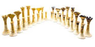 Wedgwood chess set made by John Dermer
