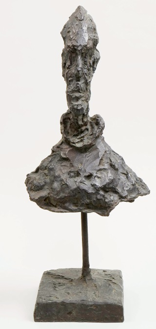 The father of brutalism Alberto Giacometti (1901-1966) Buste d'homme sur tige c.1954. Courtesy of Fondation Alberto et Annette Giacometti © Succession Alberto Giacometti. Tate Modern's major exhibition of the work of Alberto Giacometti opens on May 9