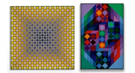 Victor Vasarely: Alom-2 (1967), estimated at £90,000-120,000; Tridim-RR (1968), estimated at £30,000-40,000