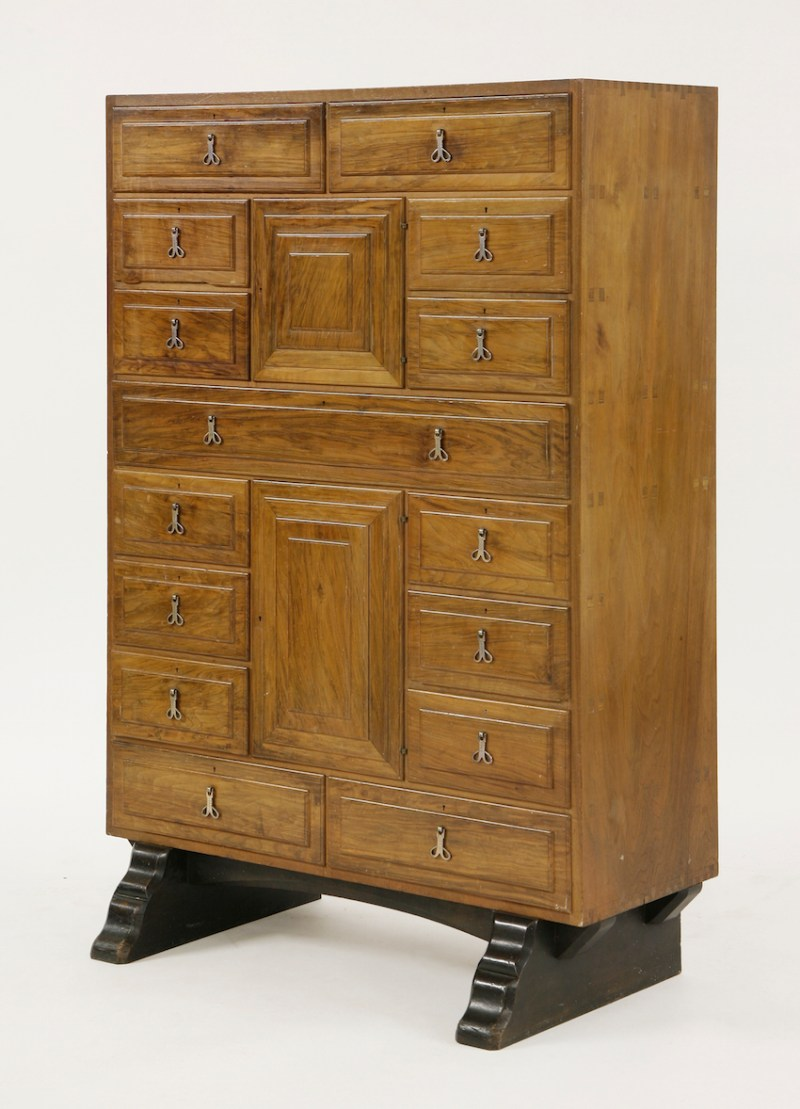 A walnut secretaire by Ernest Gimson, 4ft 3in (1.3m) high – sold at Sworders for £42,000 (Estimate: £8000-12,000)