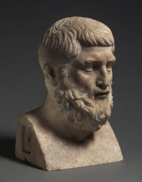 A Roman marble bust of Hermarchus