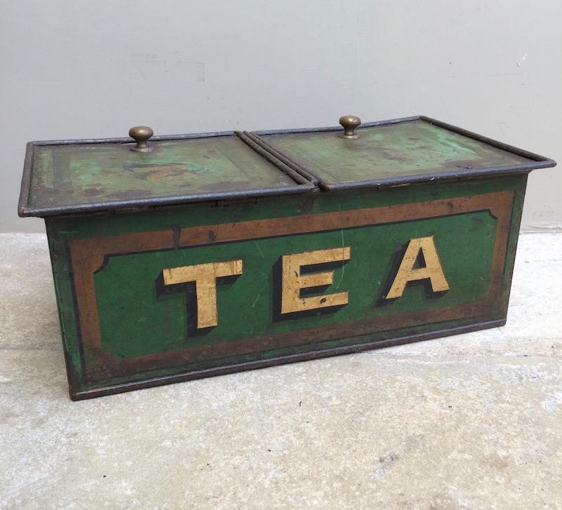 Antique tea advertising tin