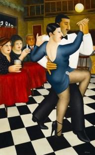Beryl Cook's Tango in Bar Sur