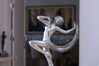 An Art Deco figurine