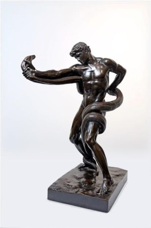 Brass sculpture by Frederic Lord Leighton