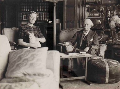 David Lloyd George with his second wife, Frances Stevenson