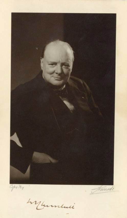 Vintage photo of Winston Churchill