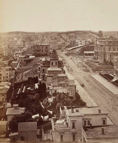Panoramic photograph of San Francisco
