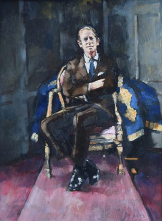 Prince Philip portrait by Harold Riley