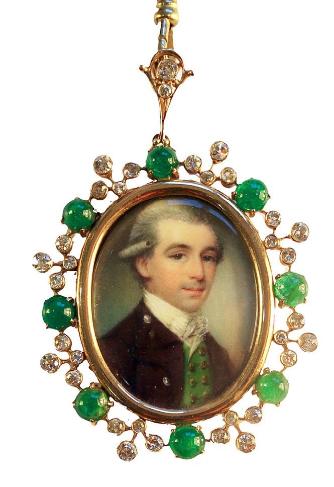 A portrait miniature of a fine young gentleman by James Nixon, £6,000, exhibited by Ellison Fine art