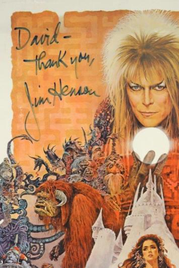 Signed poster of Labyrinth film