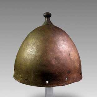 The rare Bronze Age helmet