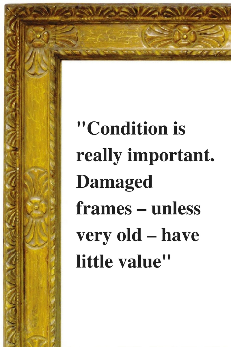 In the frame - how to buy an antique picture frame