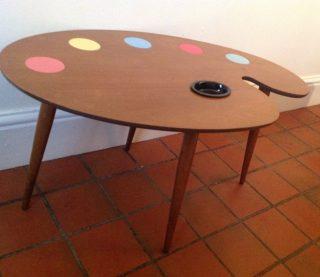 palette table designed by Hornsea pottery designer John Clappison