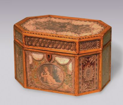 George III antique tea caddy
