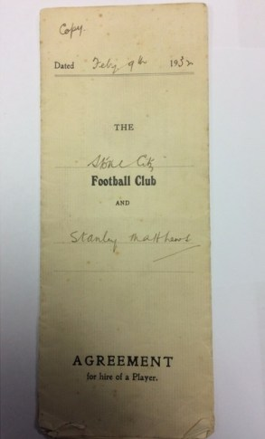 Sir Stanley Matthews' football contract