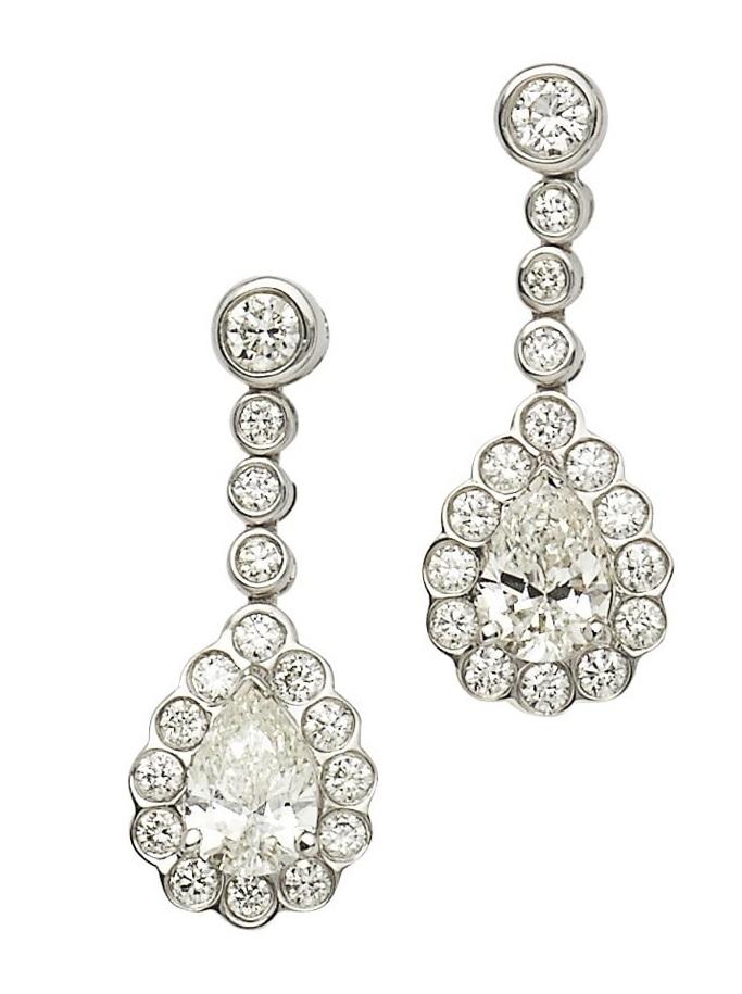 A similar pair of beautiful diamond drop earrings available at Susannah Lovis