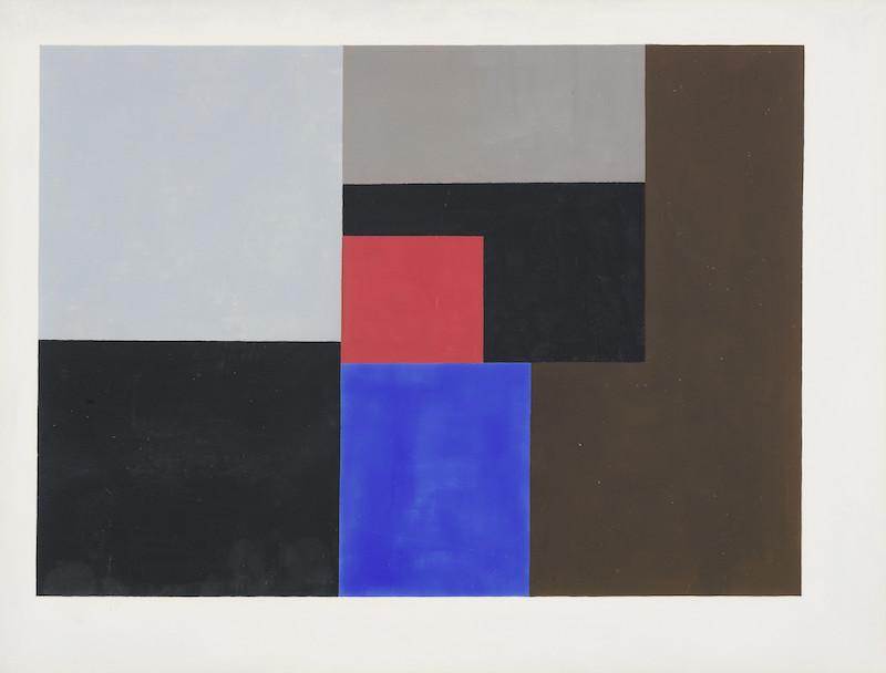 BEN NICHOLSON O.M. (British, 1894-1982) 1936 (gouache) 38.1 x 50.2 cm. (15 x 19 3-4 in.)